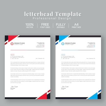 Letterhead business template