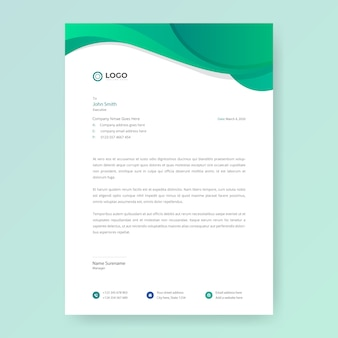 Letterhead design template in flat style