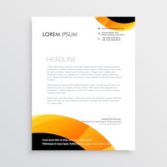 Letterhead design in yellow black colors