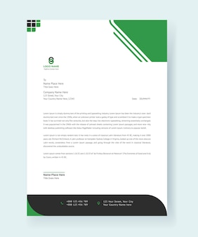 Letterhead modern corporate design print template premium vector