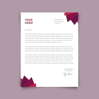 Letterhead template design