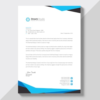 Letterhead Template Design Free Download Vector Psd And Stock Image