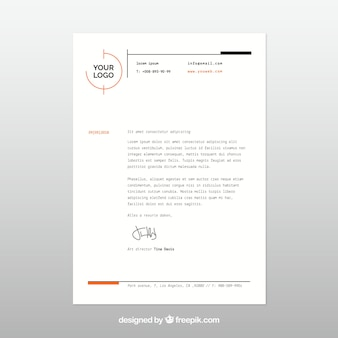 Letterhead template in flat style