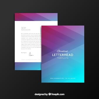 Letterhead template in gradient style