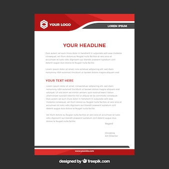 Letterhead vectors photos and psd files free download letterhead template in flat style altavistaventures