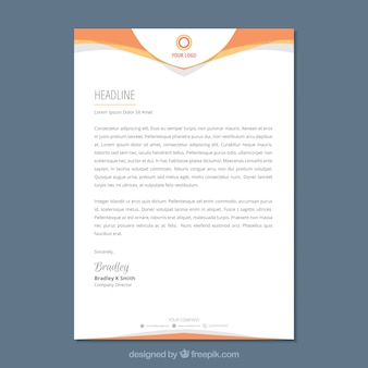 Letterhead vectors photos and psd files free download letterhead template in flat style spiritdancerdesigns
