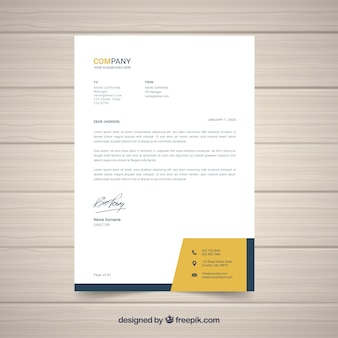 Letterhead vectors photos and psd files free download letterhead template in flat style wajeb Choice Image