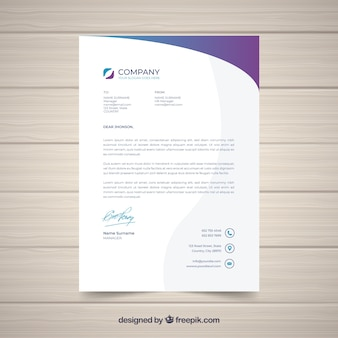 Letterhead vectors photos and psd files free download letterhead template in flat style spiritdancerdesigns Images