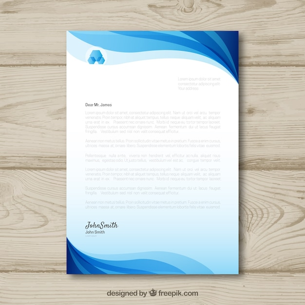 headed paper template