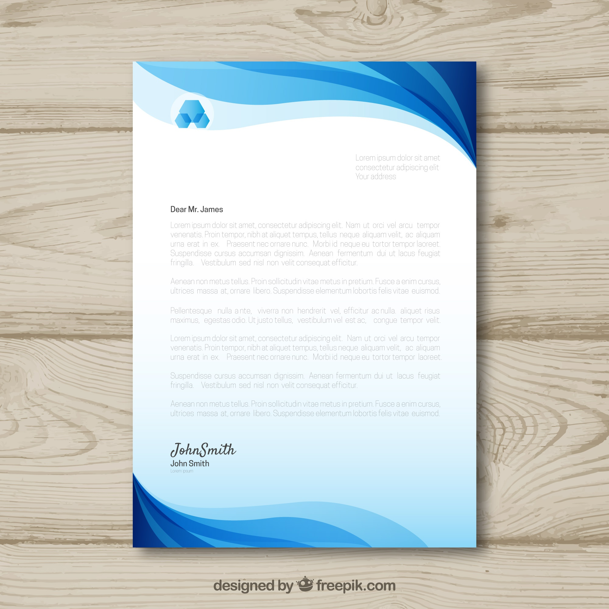 Letterhead template in gradient style