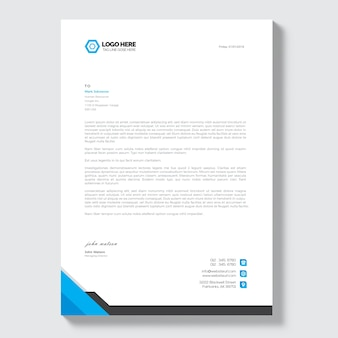 Letterhead vectors photos and psd files free download letterhead template spiritdancerdesigns Choice Image