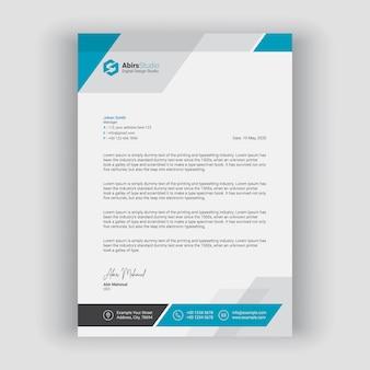 Letterhead template Premium Vector