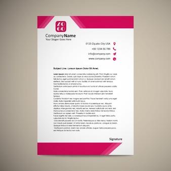 Letterhead дизайн шаблона