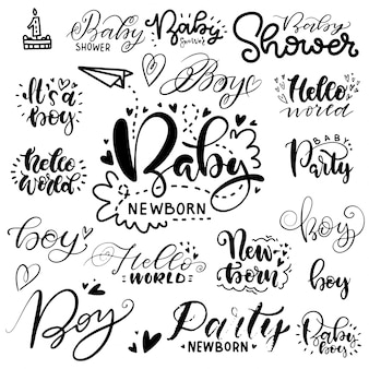 Lettering for a baby shower party