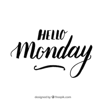 Lettering background with text 'hello monday'