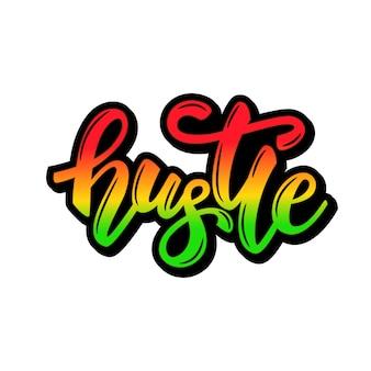 Lettering banner design hustle