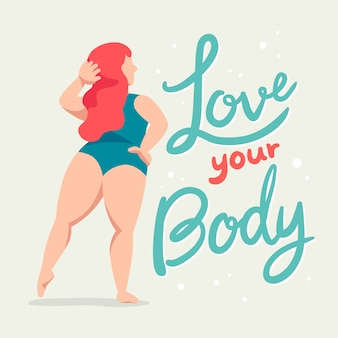 Lettering body positive