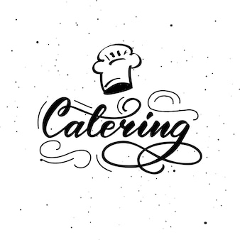 Lettering catering.