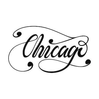 Lettering chicago. vector illustration.