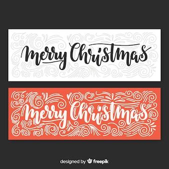 Lettering christmas banner