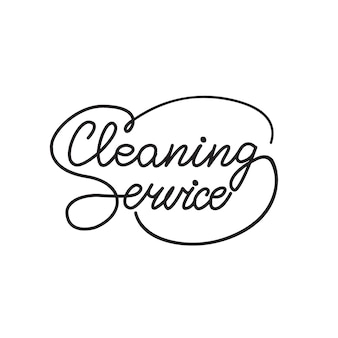 Lettering cleaning service. vector illustration.