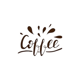 Lettering Coffee. Vector illustration.