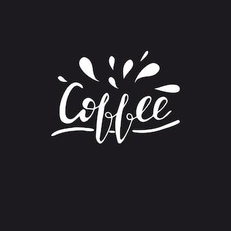 Lettering coffee. vector illustration.