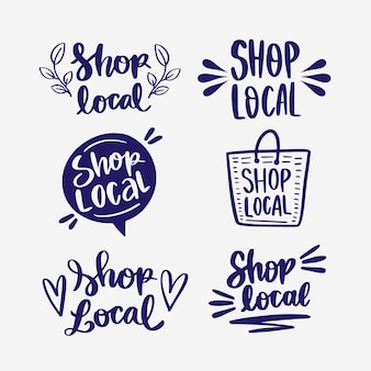 Lettering collection for supporting local business