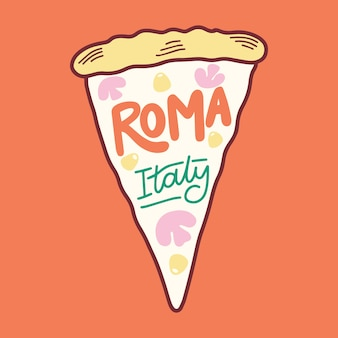 Lettering concept with roma theme