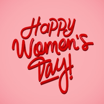 Lettering concept for womens day