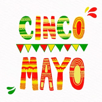 Scritte design cinco de mayo