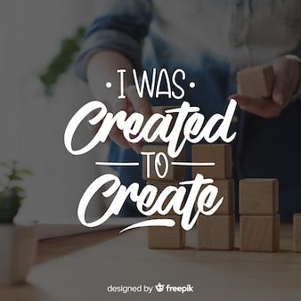 Lettering design for creativity purposes