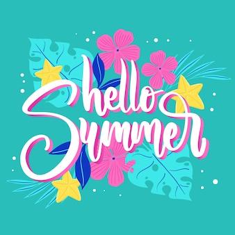 Lettering design hello summer