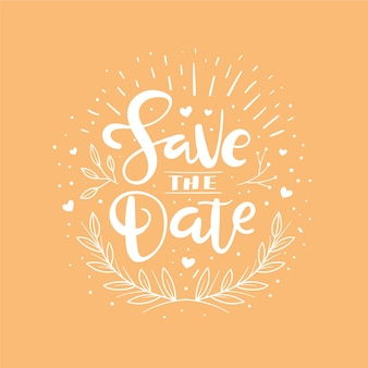 Lettering design save the date