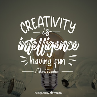 Lettering design with creativity quote