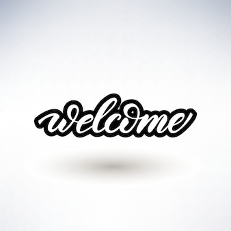Lettering design with a word welcome