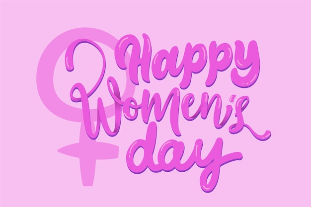Lettering design for womens day