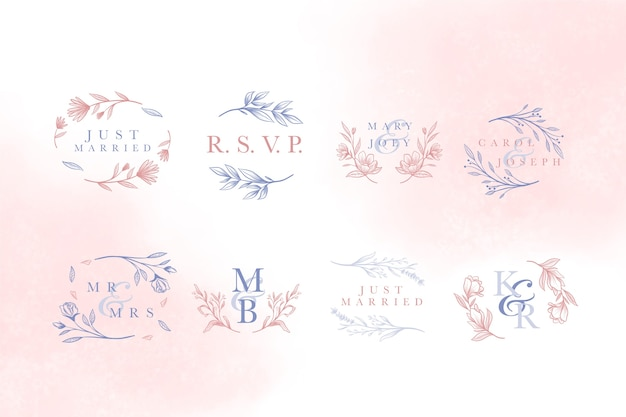 Надпись элегантная концепция для свадьбы