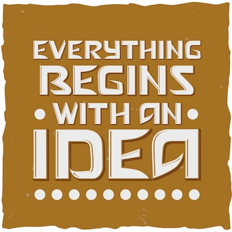 Lettering: everything begins with an idea