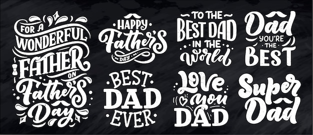 Lettering for father's day greeting card, great design for any purposes.