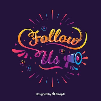 Lettering follow us