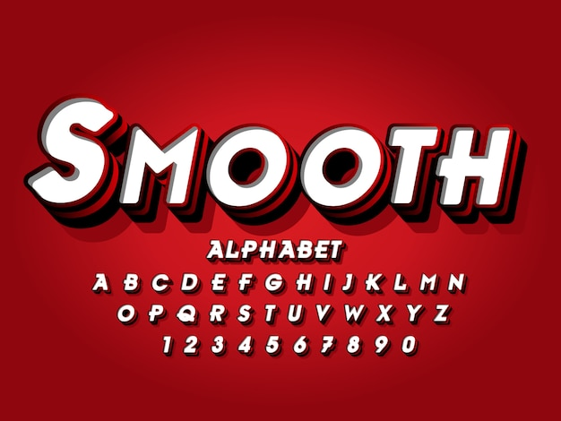 Lettering font style effect in 3d