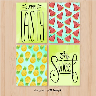 Lettering food cards pack