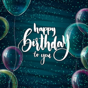 Lettering happy birthday