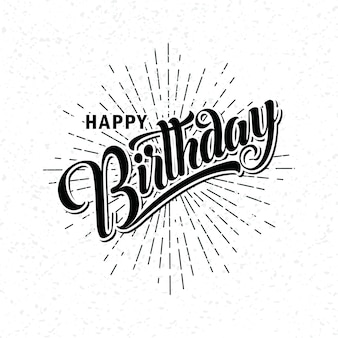 Lettering of happy birthday
