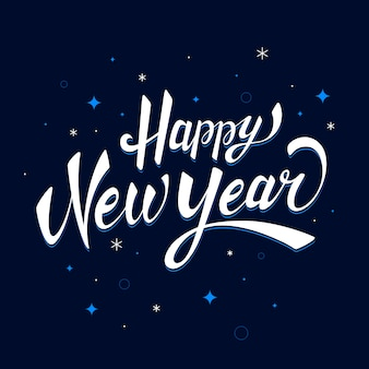 Lettering happy new year 2020 background