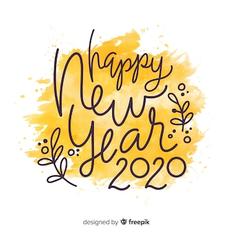 Lettering happy new year 2020