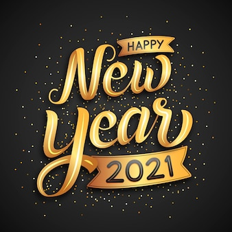 Lettering happy new year 2021