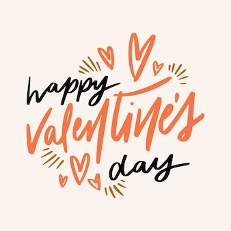Lettering for happy valentine's day event