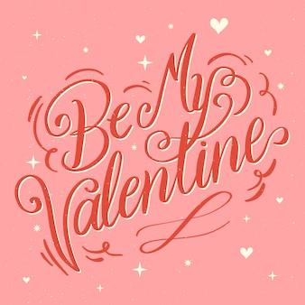 幸せなバレンタインデーをレタリング